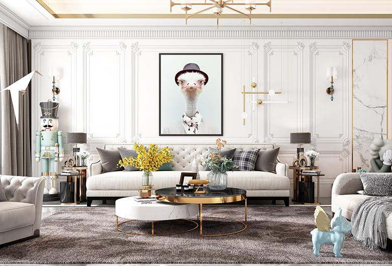 江夏-保利西海岸欧式风格  163平方米   三居室