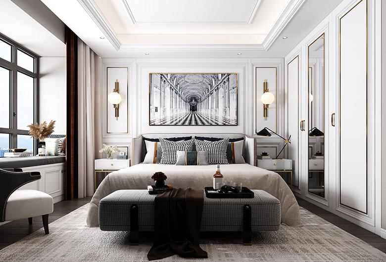 汉阳区-保利香颂一期    欧式风格 196平方米   四居室