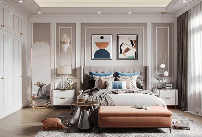 洪山区-融海杰座美式轻奢  105平方米  三居室