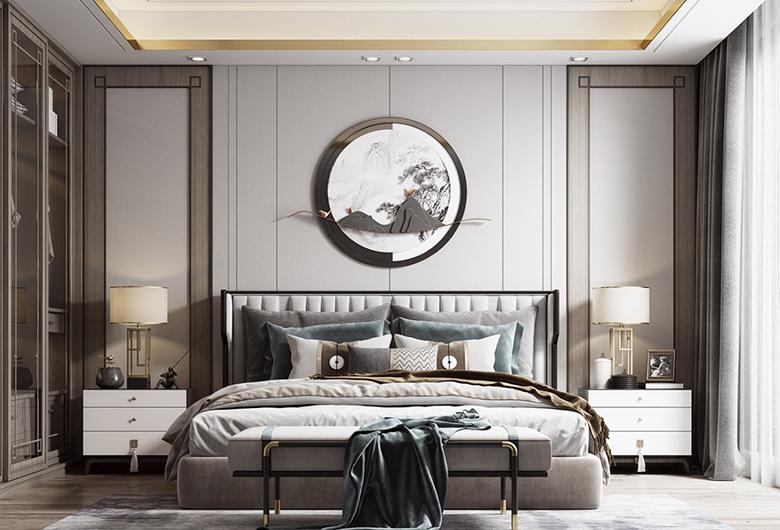 江岸区-首地云梦台   新中式风格  135平方米   三居室