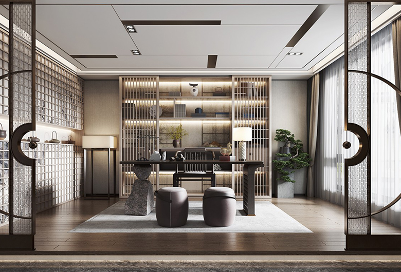 洪山区-融海杰座 新中式风格  98平方米  二居室