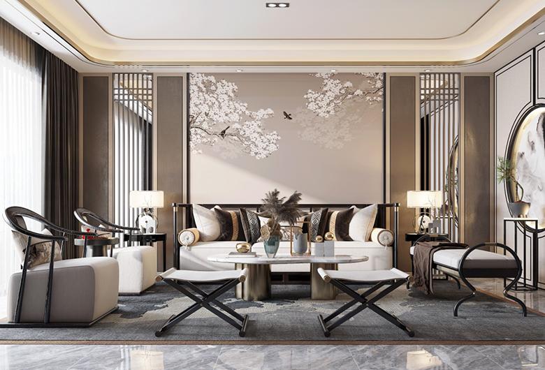 洪山区-保利城四期  新中式风格105平方米  三居室