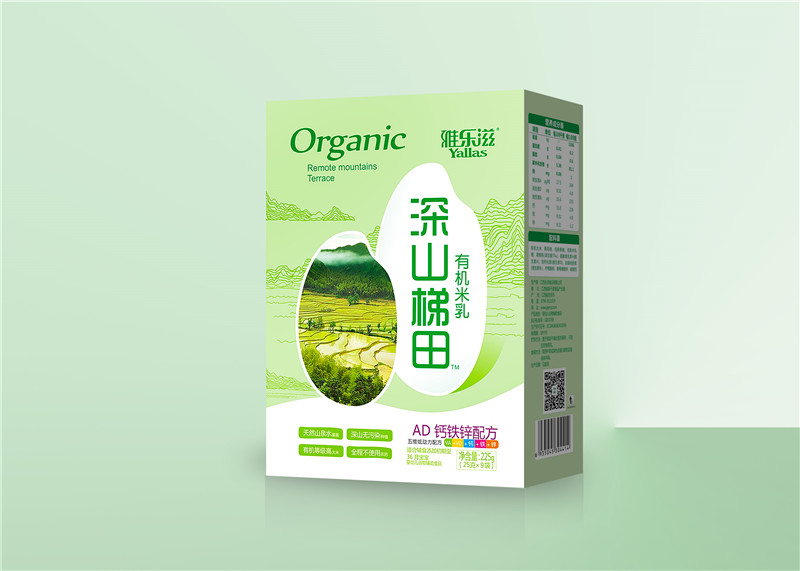 雅乐滋深山梯田有机米乳盒装-AD钙铁锌配方