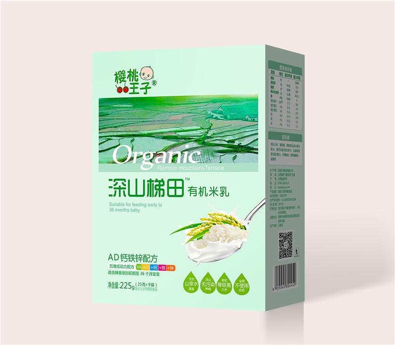 樱桃王子深山梯田有机米乳盒装-AD钙铁锌