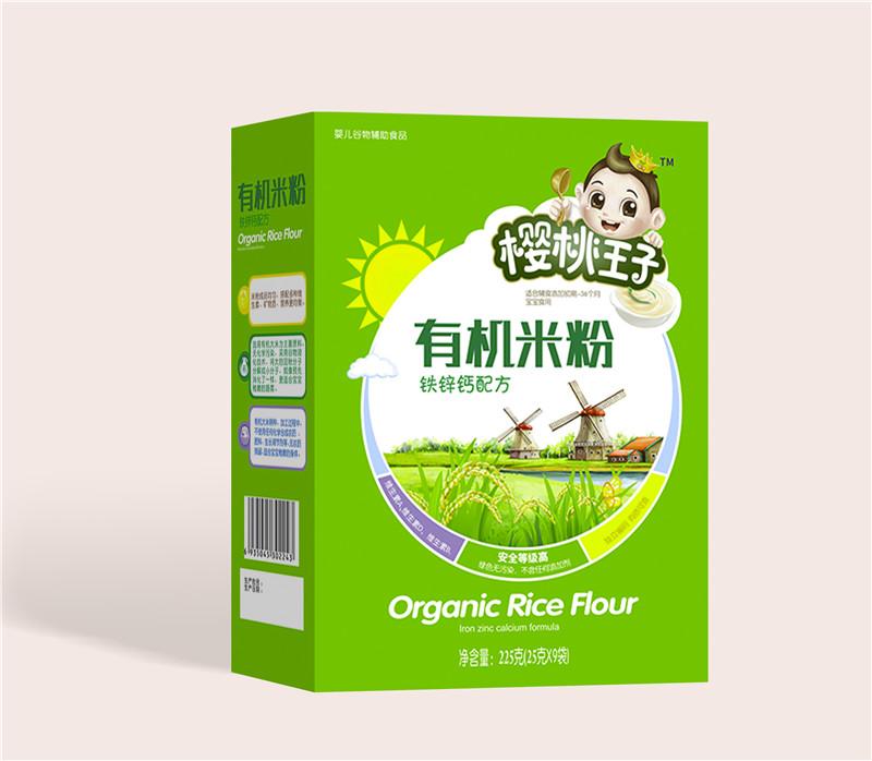 樱桃王子有机米粉盒装-铁锌钙
