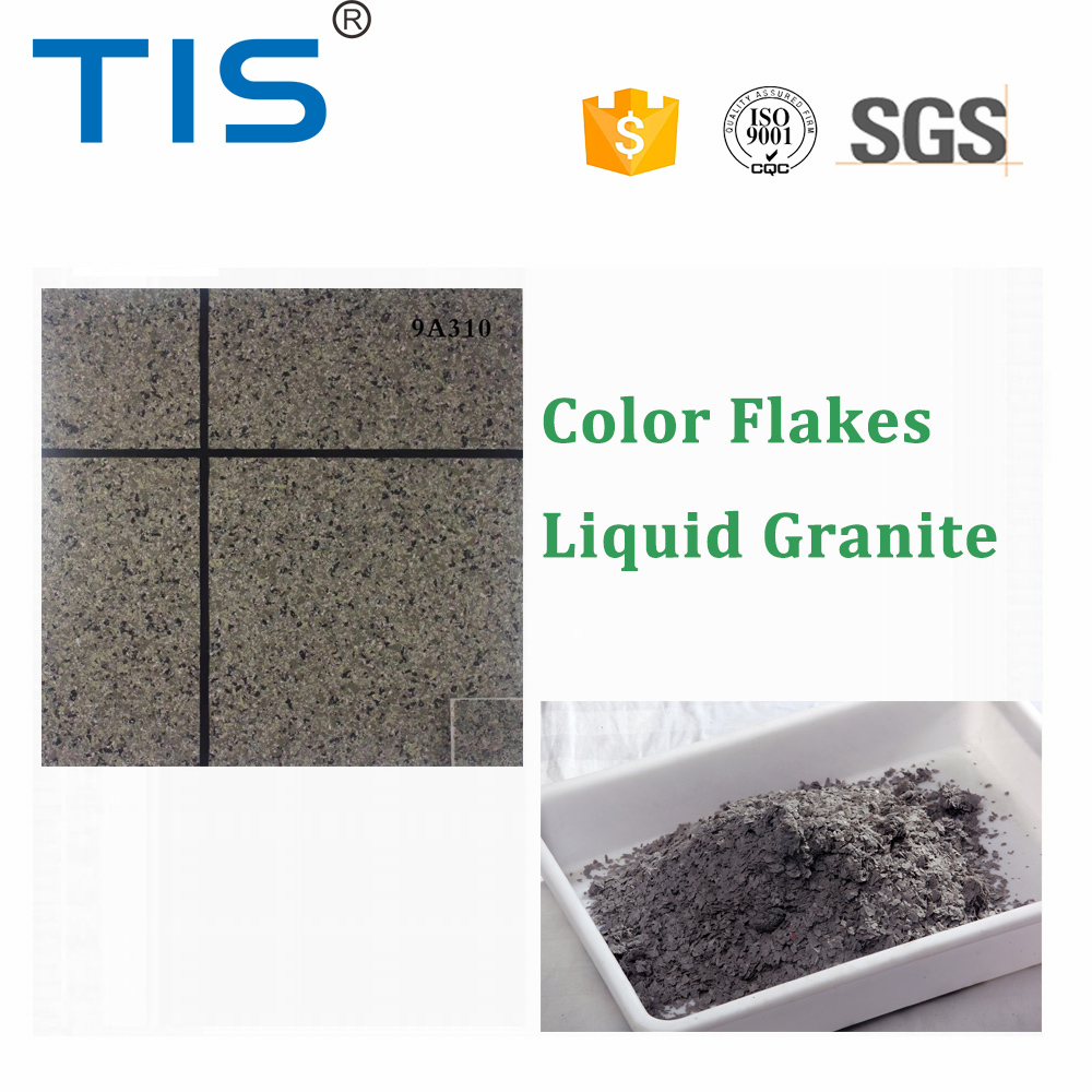 stone granite effect paint flakes for exterior wal