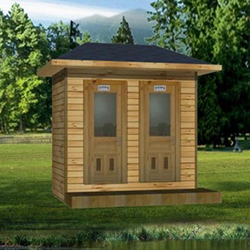 防腐木移动厕所