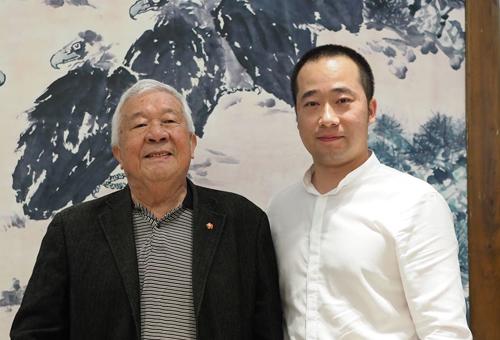 中国美术家协会理事王成喜先生合影