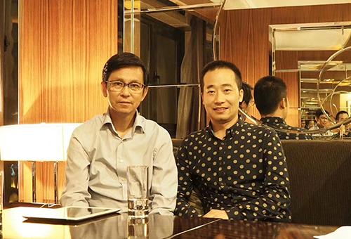 中国美术家协会副主席何家英先生合影