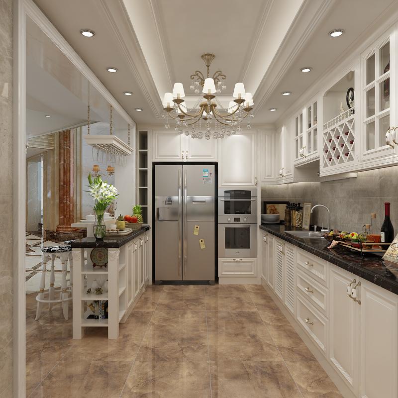 L型厨房橱柜订制效果图