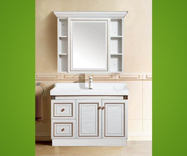 白色简约铝合金浴室柜
