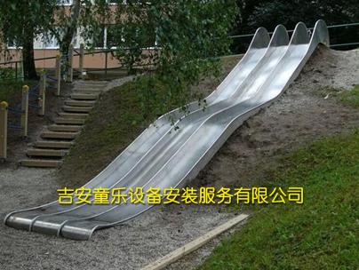 不锈钢双滑道滑梯