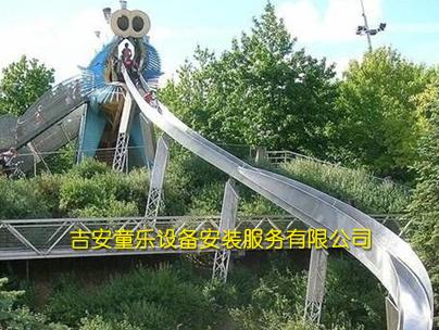 山坡不锈钢滑梯