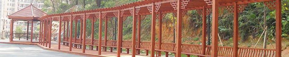 南阳防腐木廊架