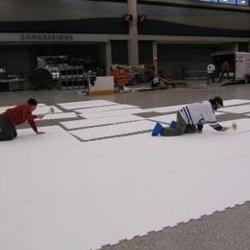 溜冰场地板