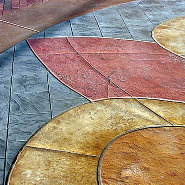 彩色水泥压花地坪