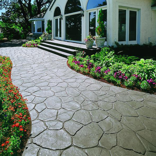 水泥压花艺术地坪