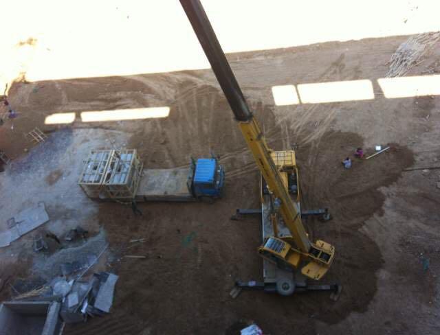 吊装工程工作现场