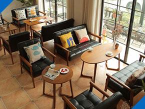 西餐厅沙发换皮