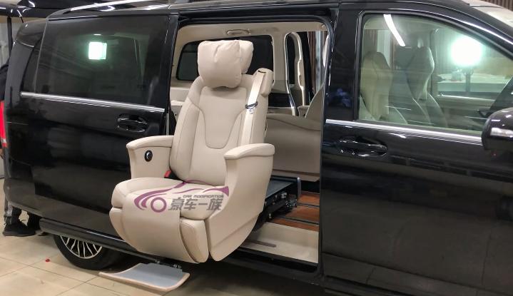奔驰V260福祉座椅改装残疾人座椅案例