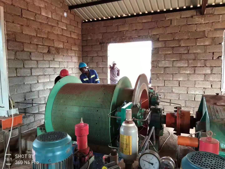 JTP系列1.2米直径矿用提升绞车-出口赞比亚