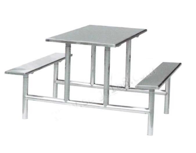 豪华不锈钢四人餐桌