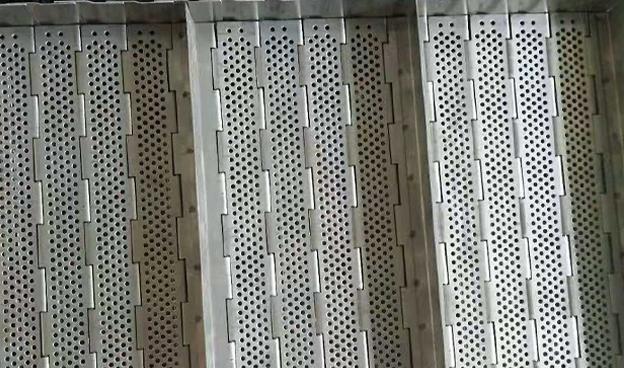 提升机挡板试不锈钢链板