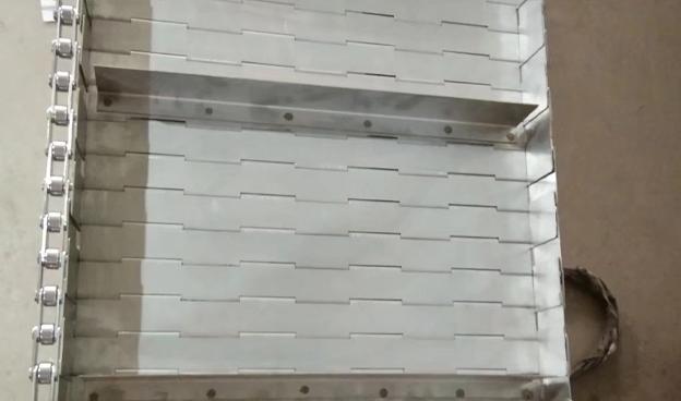 带侧挡板恒挡板不锈钢链板提升机专用