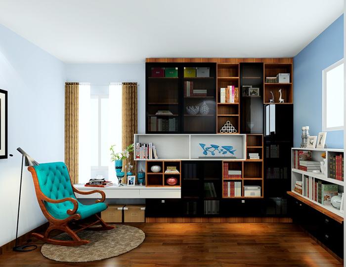 如何让书柜变得舒适,定制书柜时注意这三点