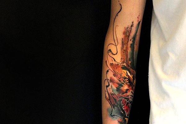 重庆手臂纹身作品
