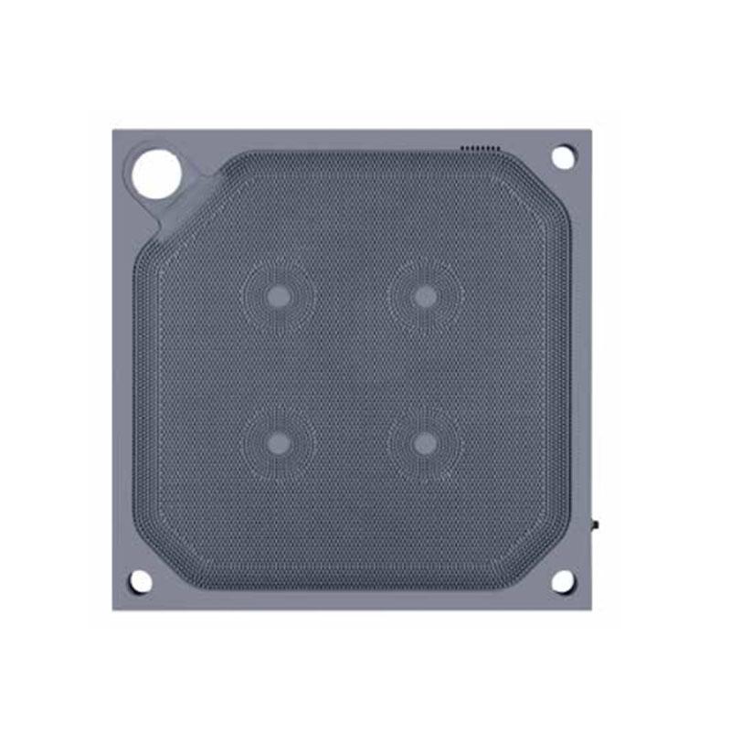 角进料隔膜滤板