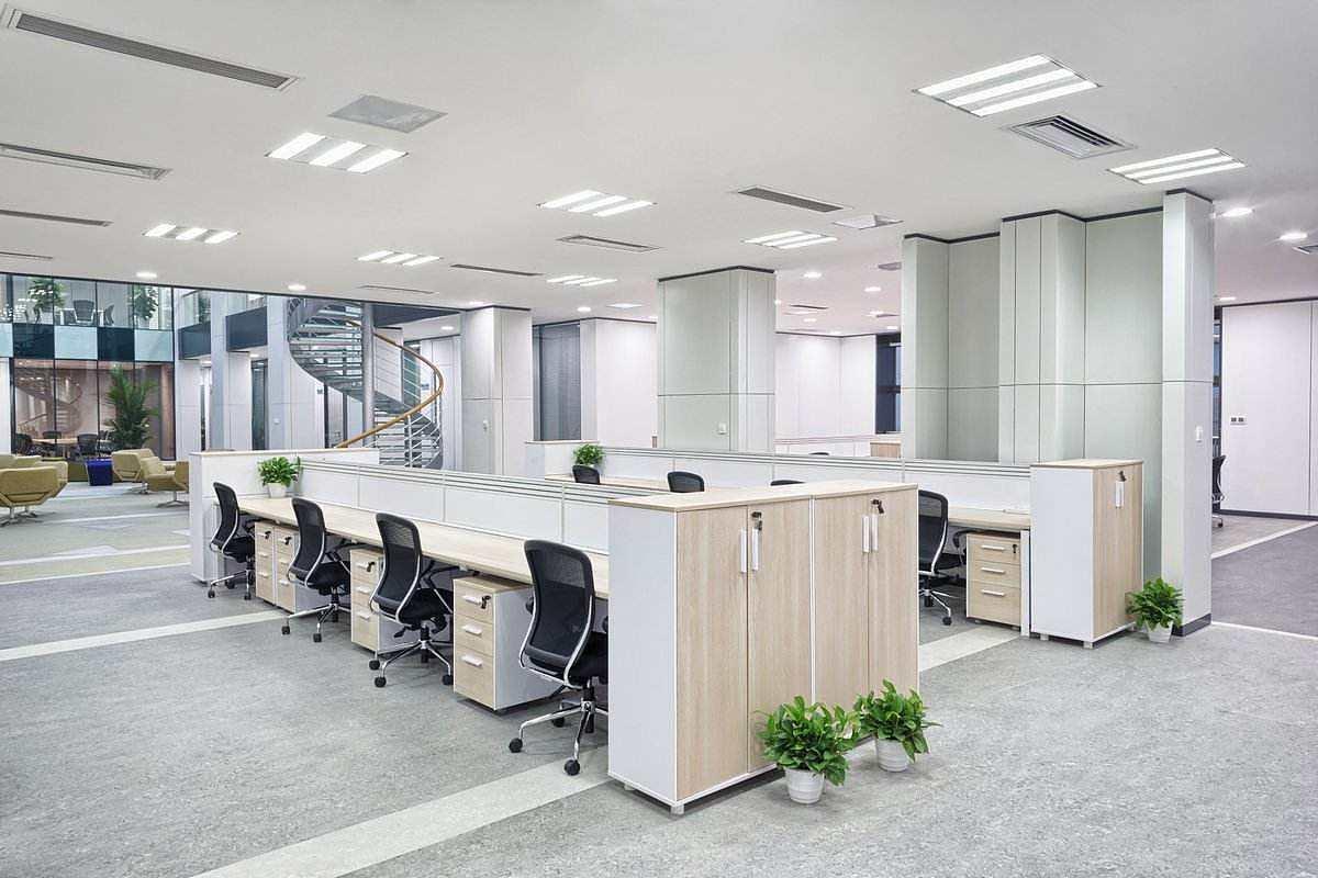 办公室装修家具布置使办公室更加规整、美观。