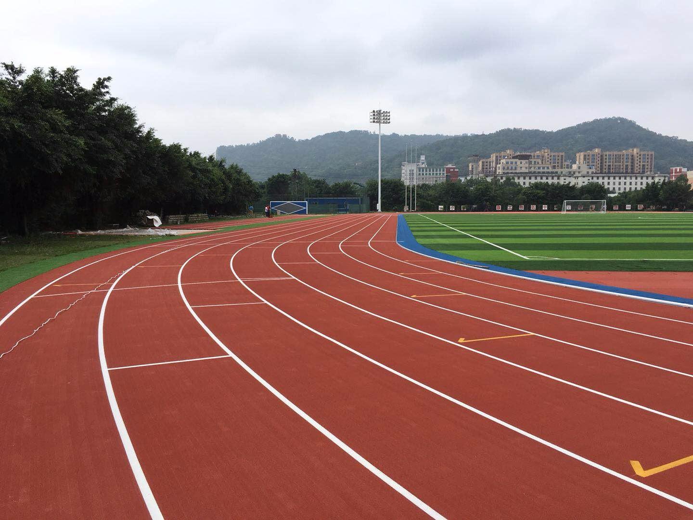 塑胶跑道的主要原料为粘合剂和橡胶颗粒,EPDM或PU颗粒