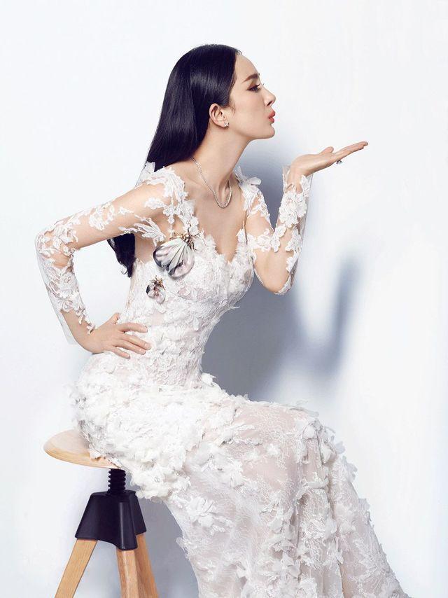 长垣V领蕾丝袖婚纱既优雅又性感