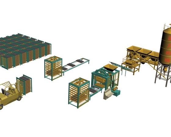 半自动砌块生产线1