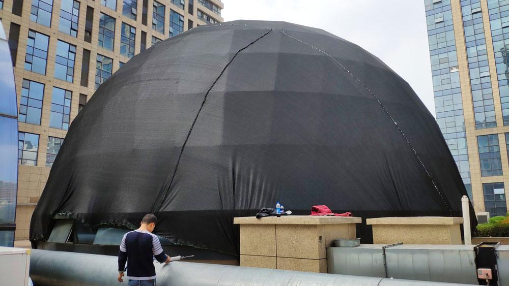 穹顶遮阳网安装铺设