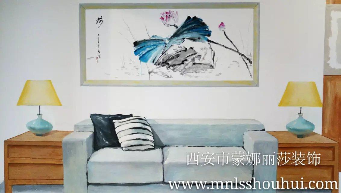 房地产售楼部样板间彩绘墙