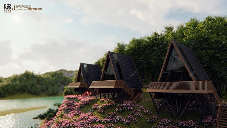 网红三角树屋