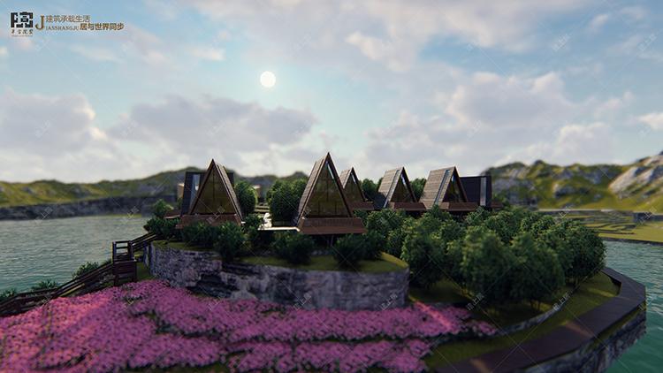 三角树屋设计