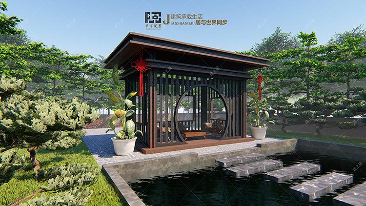 新中式茶亭设计