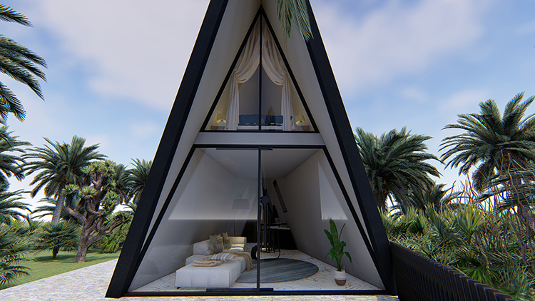 三角树屋造价