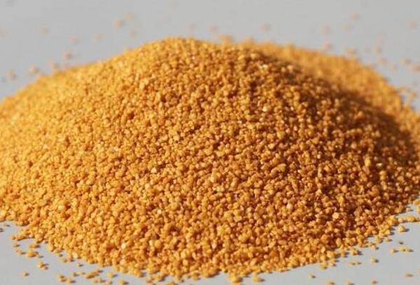 黄色天然彩砂 颜色鲜艳 价格优惠