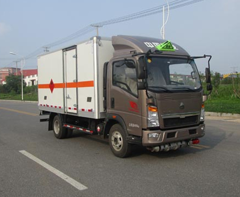 HLL5040XRQZ4型易燃气体厢式运输车