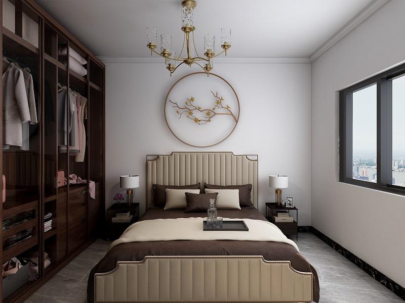 固安恒基现代城新中式家装设计效果图