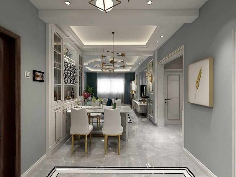 廊坊固安县剑桥六期 现代轻奢装修设计效果图 三居室