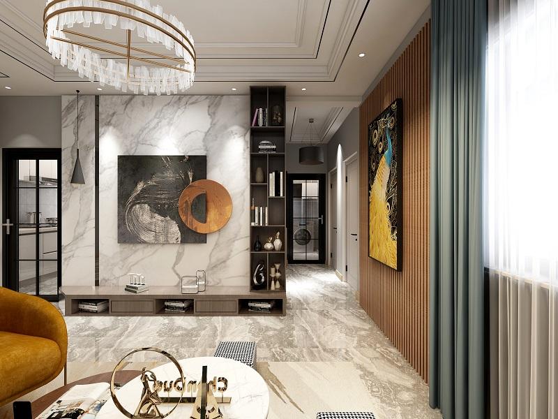 北京太阳公元 轻奢风格室内装修效果图