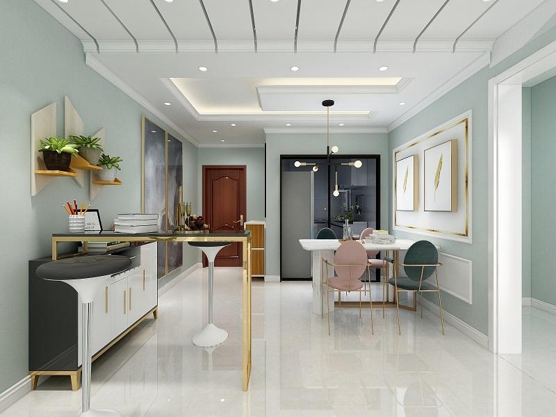 廊坊香河县华夏英国宫九期 小户型简约装修设计效果图  两居室