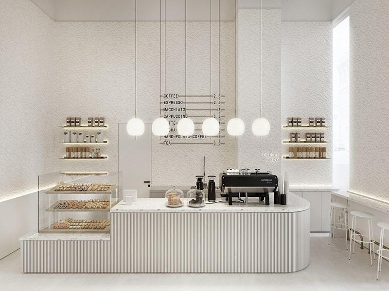 廊坊固安面包店修设计案例