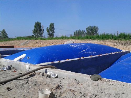 大型軟體沼氣池