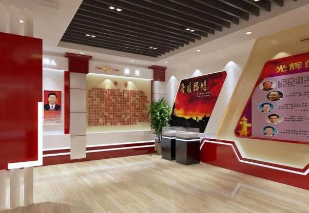 长沙党建美陈展厅设计的思路
